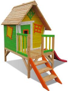 Kinder Spielhaus Holz Stelzenhaus Im Garten Bauen Paradies