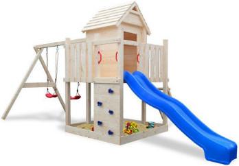 kinder spielhaus - kunstoff oder aus holz im garten selber bauen, Garten und Bauen